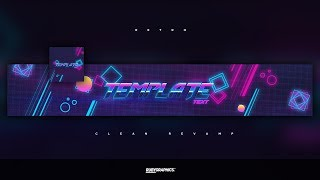 FREE GFX: Free Photoshop Revamp | Banner Template: Clean 80's Retro Style Design
