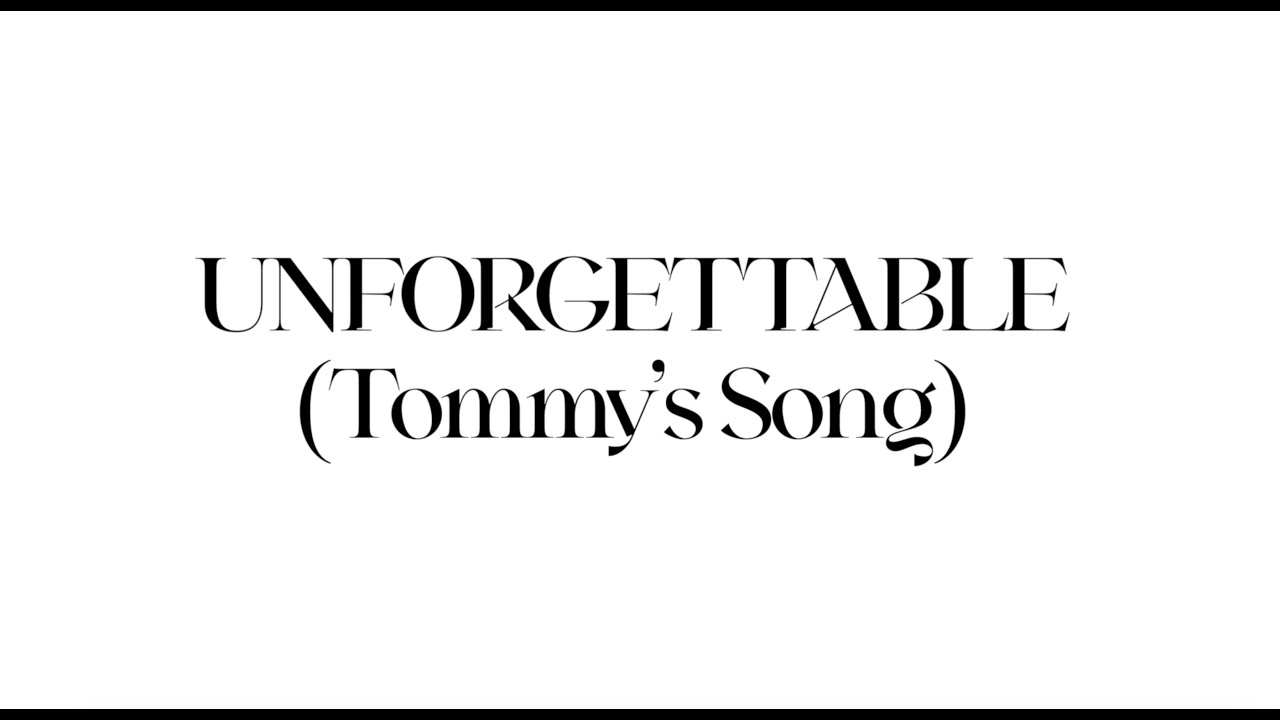 Demi Lovato - Unforgettable (Tommy's Song) (Official Lyric Video)
