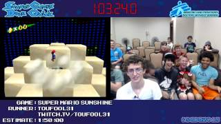 Super Mario Sunshine [GCN/Wii] :: Speed Run (1:39:51) by Toufool #SGDQ 2013