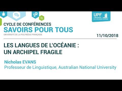 Conférence Savoirs pour tous : Les langues de l'Océanie : un archipel fragile