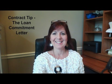 Contract Tip -  Loan Commitment Letter