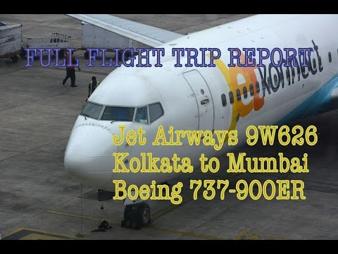 #8: JET AIRWAYS / JETKONNECT | B737-900ER | FLIGHT TRIP REPORT & REVIEW | 9W626 | Kolkata to Mumbai