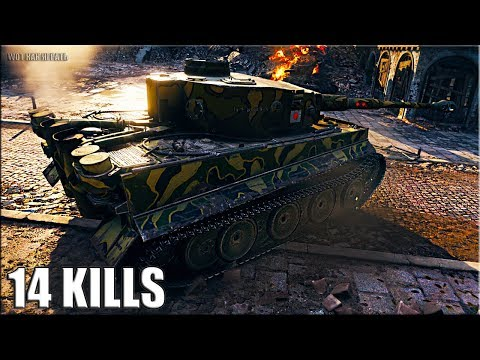 14 фрагов на ЯПОНСКОМ ТИГРЕ 🌟🌟🌟 Heavy Tank No. VI World of Tanks лучший бой.