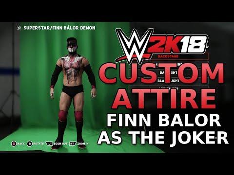WWE 2K18 Custom Attire: Finn Balor as The Joker!