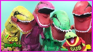 giant life size dinosaurs irl family fun activities pretend play kids power wheels ride on car
