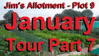 Jim's Allotment - Plot 9 - January Tour Part 7 - Organic Pest Control And Diy Weather Vane