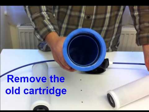 how to replace your under sink water filter cartidge