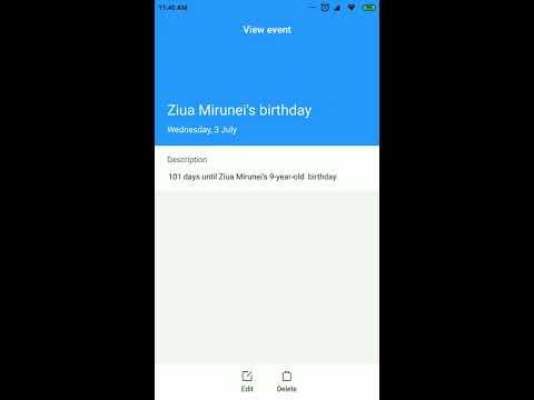 Xiaomi MIUI 10 Calendar Android Application Latest Version V10.3.0.1 On Xiaomi Mi 6