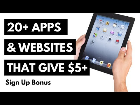 20+ Apps/Websites That Give A $5+ Sign-Up Bonus - No CC Required