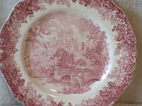 Haddon Hall Derbyshire Plate Romantic England Print J & G Meakin England Vintage