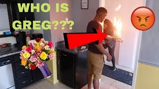 ANOTHER GUY BOUGHT ME FLOWERS PRANK ON BOYFRIEND!!! (SET FLOWERS ON FIRE) *NOT CLICKBAIT*