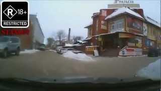 Подборка аварий, разборок и приколов приколов за 2013