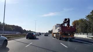 Dashcam Beelden Eemnes: A1 Toerit Soest »Knooppunt Eemnes »A27 Nabij Aansluiting N230.