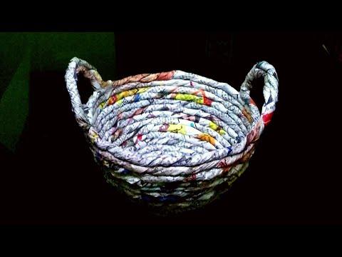 How to make a Newspaper Basket/DIY Newspaper craft