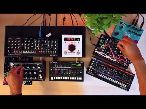 Juno (Roland Ju06a // Tr6s // Se02+Eventide H9 // Moog Minitaur // Make Noise 0Coast+Strymon Bigsky)