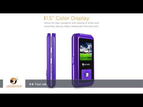 Ematic EM208VIDPR 1.5-Inch 8GB MP3 Video Player with FM Tuner, Purple | Review/Test