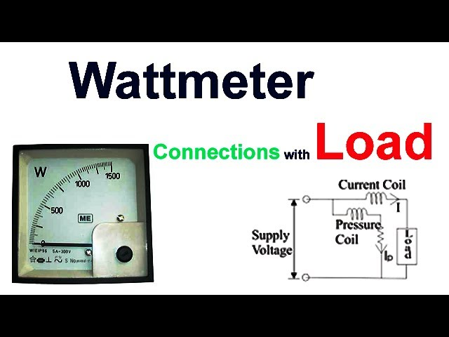 How to connect wattmeter with the load | How to measure load by wattmeter in Hindi