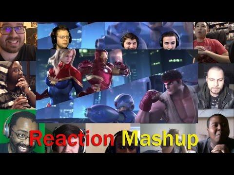 Marvel vs  Capcom Infinite Reveal Trailer REACTION MASHUP
