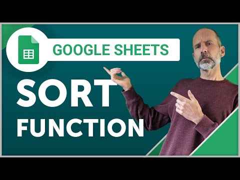 SORT Function in Google Sheets | Sort data without using the