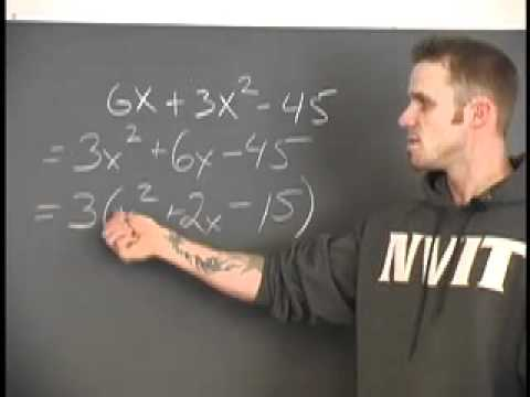 Sec 6 Ex 5 Factoring Where a=1 - Factoring in More Than One Variable