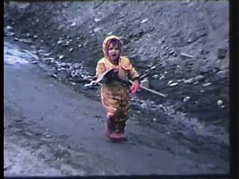 Clam Digging in Cook Inlet, Alaska - 1974