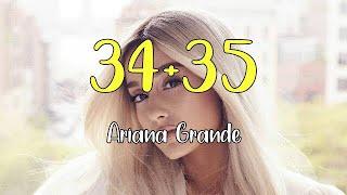 Ariana grande - 34+35 (lyric lagu dan ...