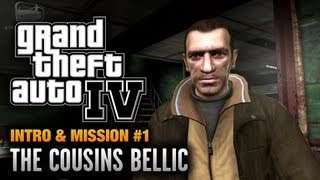 GTA 4 - Intro & Mission #1 - The Cousins Bellic (1080p)(Grand Theft Auto IV Introduction & First Mission Walkthrough Video in Full HD (1080p) GTA IV & Episodes from Liberty City (Chronological Order) Playlist: ..., 2012-10-21T00:00:09.000Z)