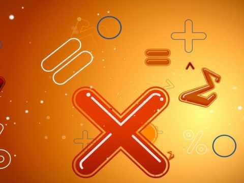 Футаж математические  символы