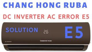 Chang hong ruba dc inverter air conditioner all error codes