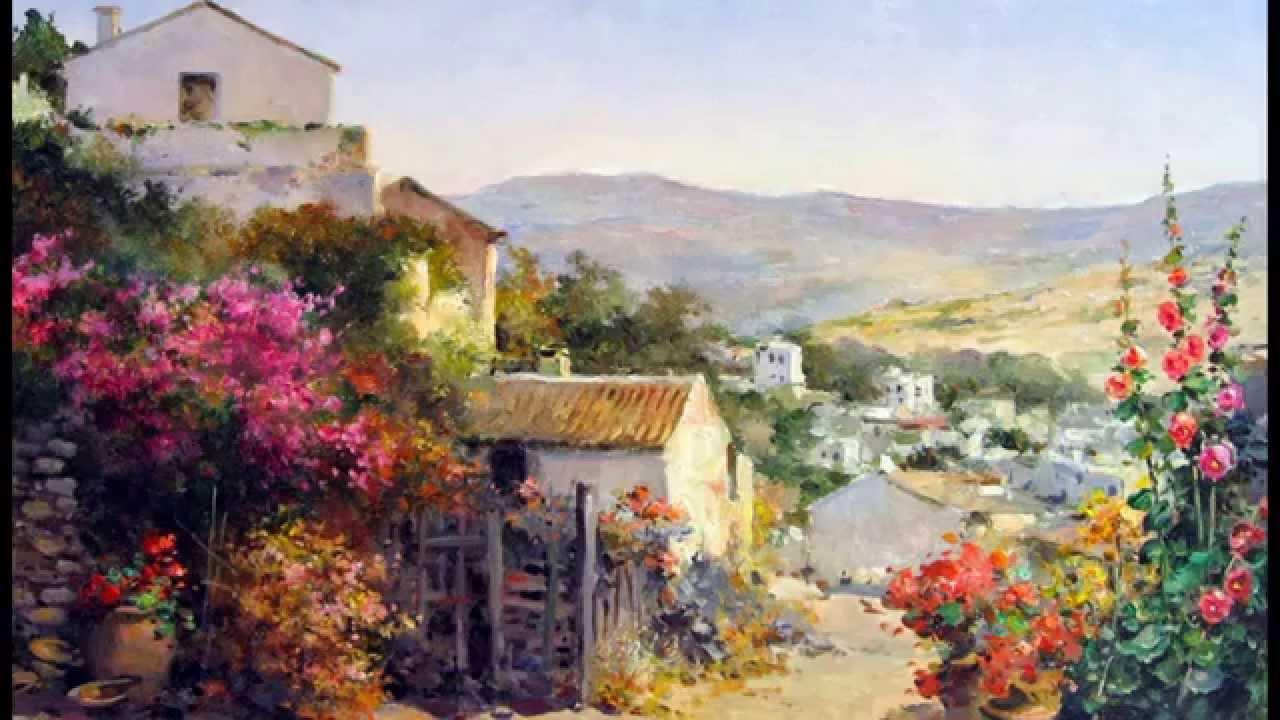 Los Pueblos Viejos Pintura Al óleo Pintor Manuel Fernández García Youtube