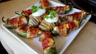 Jalapeño Poppers And Sliced Baked Potatoes