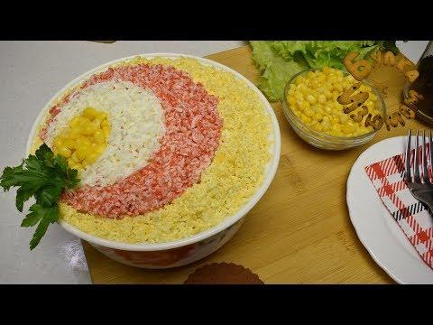 Крабовый салат и способы красивой подачи!