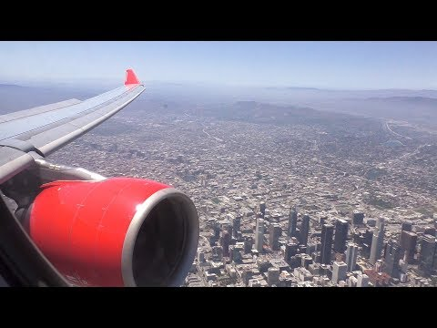 Air Berlin A330-200 BREATHTAKING Approach and Landing at Los Angeles Int'l Airport! | D-ABXD