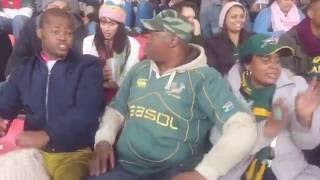 Bokke fans at the SA vs Ireland game