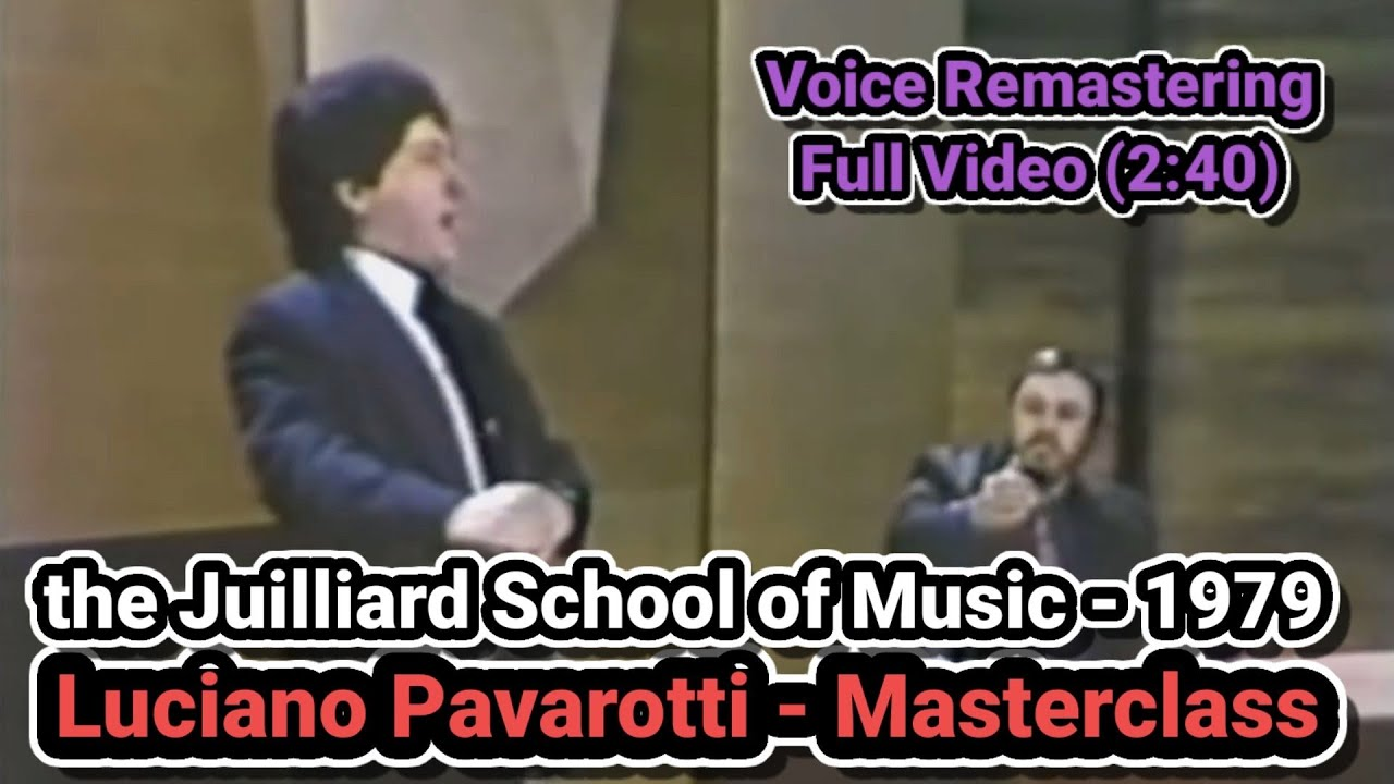 Luciano Pavarotti Masterclass/ the Juilliard School of Music/1979/ Voice Remastering Version