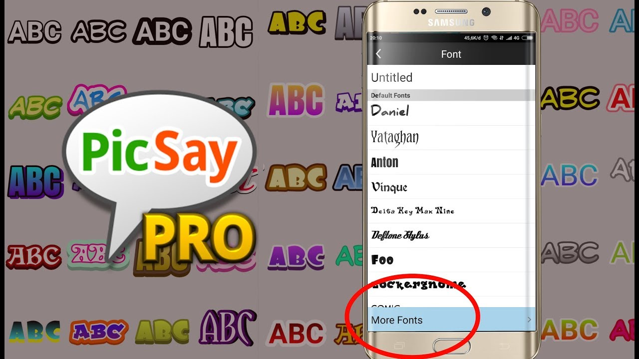 How to add a new font to picsay pro apps