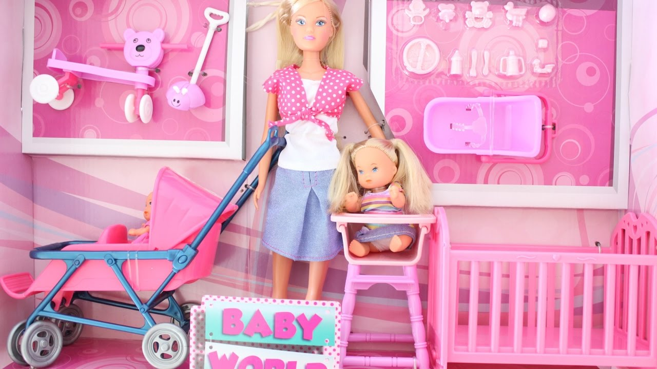 BARBIE IS MUMY OF 2 WITH A DOUBLE STROLLER OPENING ...
