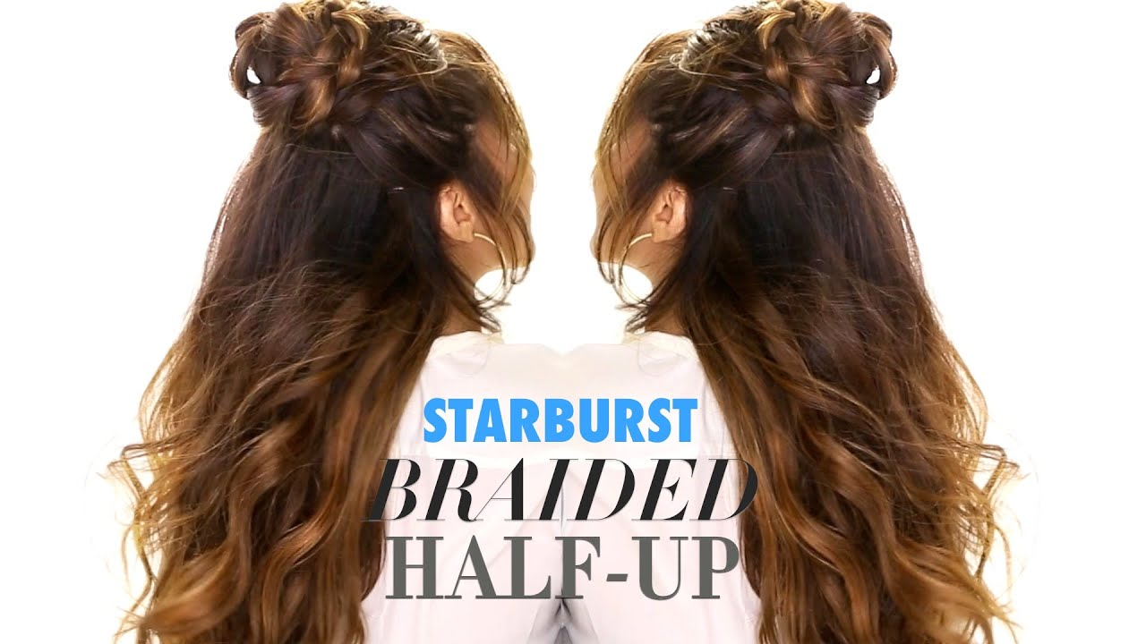 Half Up Braided Bun Makeupwearables Hairstyles For Long