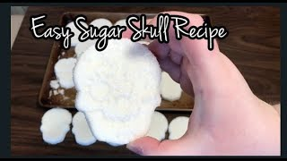 Easy Sugar Skull Recipe (No Meringue Powder)  How to Make Sugar Skulls