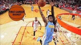 Emmanuel Mudiay Hits a Three for His First Career Points