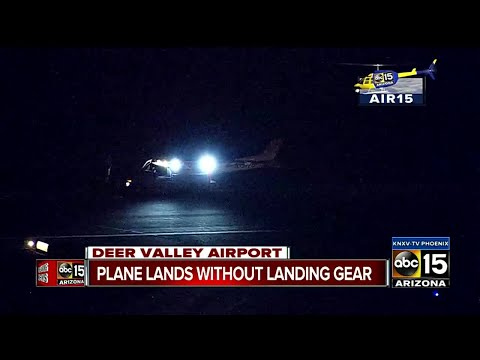 Plane lands in Deer Valley without landing gear
