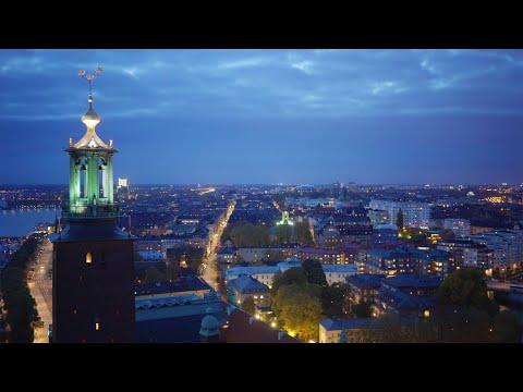 2184. Stadshuset (Stockholm City Hall) Stock Footage Video