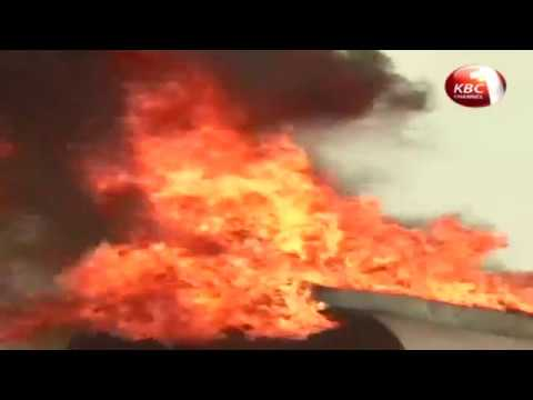 County Stories - fuel tanker burst into flames along Msa-Nrb highway