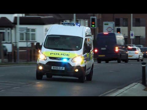 London Metropolitan Police Ford Focus IRV and Ford Transit Van responding