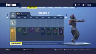 ALL Items in SEASON 6 BATTLE PASS! (Fortnite)
