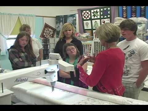 Handi Quilter Gives HQ18 Avante to Council, Idaho School - YouTube : hq18 avante quilting machine - Adamdwight.com