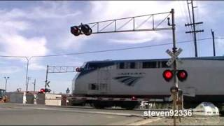 *RARE* TYPE 1 SAFETRAN E-BELL! - Amtrak #2 Glides Through Crossing