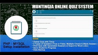 PHP Online Quiz Free Source Code
