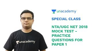 Special Class - NTA/UGC NET 2018 - Mock Test - Practice Questions for Paper 1 - Sandeep Singh