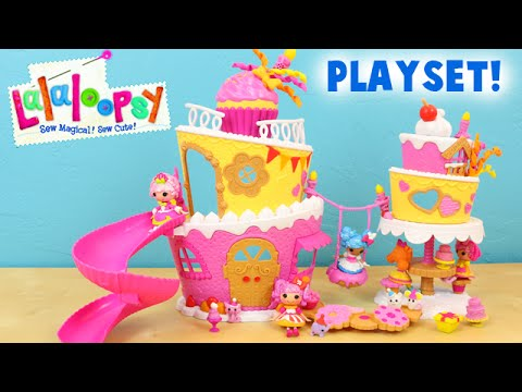Lalaloopsy Minis Musical Cake Playset with Surprise Party Curl Toy Unboxing